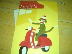 Sock Monkey bill at Joe V's
