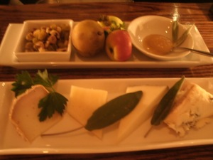 Erbaluce cheese plate