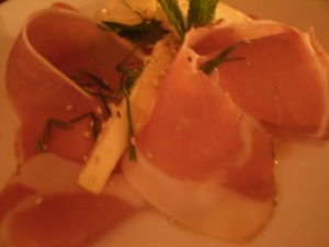 Speck with apple at Erbaluce